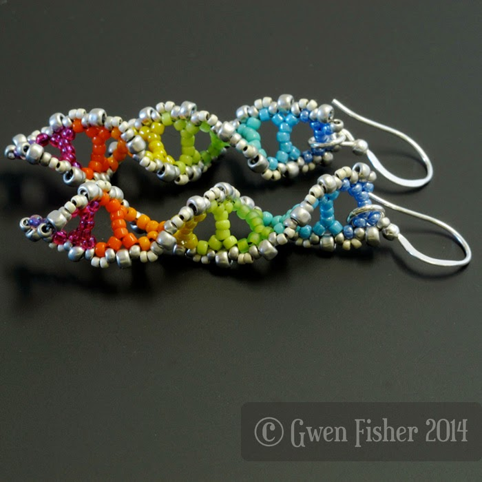 Rainbow DNA Earrings