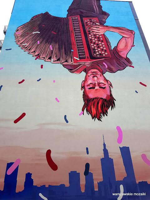 Warszawa Warsaw Mateusz Kołek Good Looking Studio streetart warszawskie murale muralart Praga Północ praskie klimat grajek akordeon
