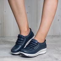 Pantofi dama Piele Aldina bleumarin casual