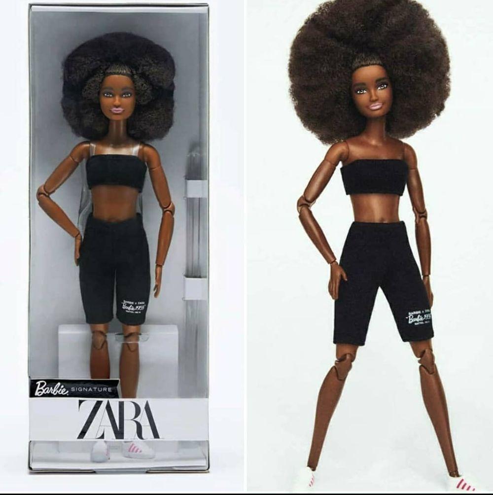 Кукла ZARA X Barbie афроамериканка в черном костюме
