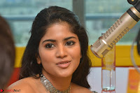 Mega Akash in a sleeveless Off Shoulder Cute Dress Stunnign beauty at Radio Mirchi Promoting Movie LIE ~ Celebrities Galleries 035.JPG