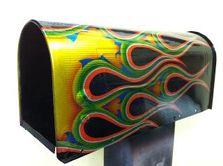 2133209636 - カスタムペイント工程 郵便ポスト 奈良フレイムス