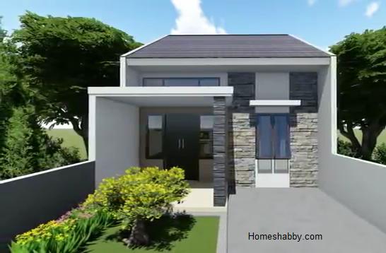Desain Dan Denah Rumah Gaya Minimalis Type 36 72 2 Kamar Tidur Dan Mini Bar Tampil Lebih Nyaman Dan Modern Homeshabby Com Design Home Plans Home Decorating And Interior Design
