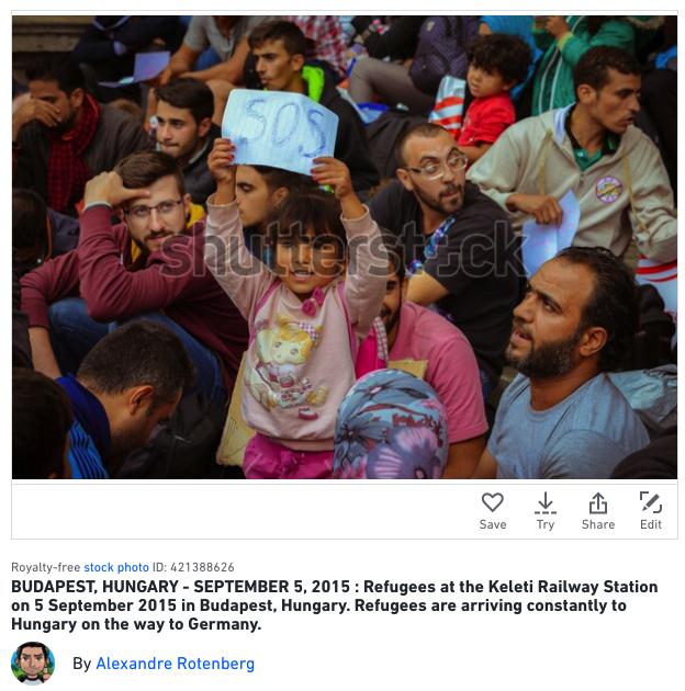 Foto Refuges dan Demonstrasi jadi foto paling laris di Shutterstock