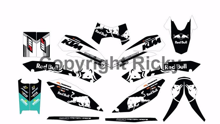 YAMAHA & KTM Duke Custom Decals: New Custom Design