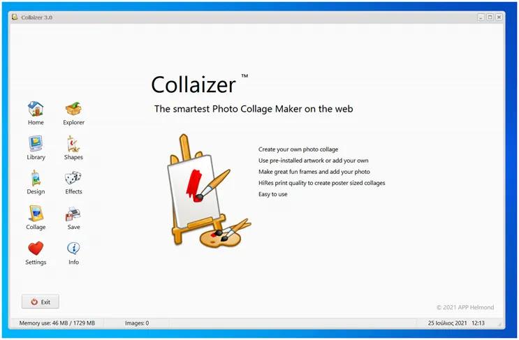 Collaizer :  Δωρεάν εφαρμογή δημιουργίας κολλάζ φωτογραφιών