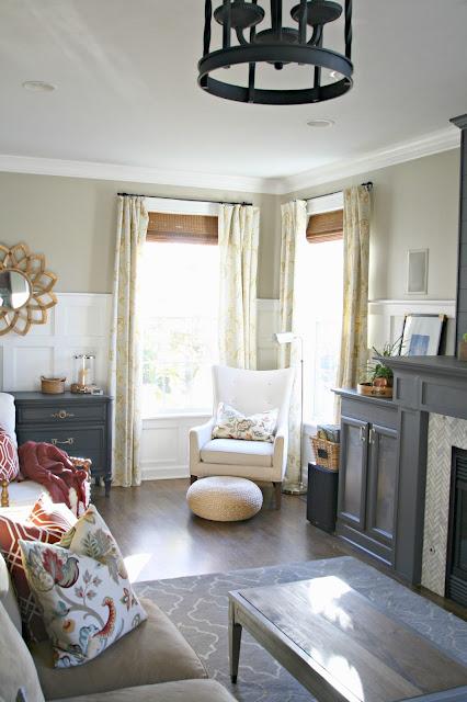 Corner windows with chair