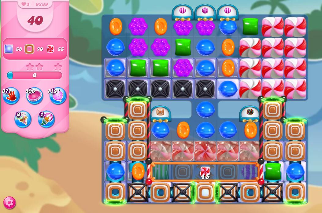 Candy Crush Saga level 9289