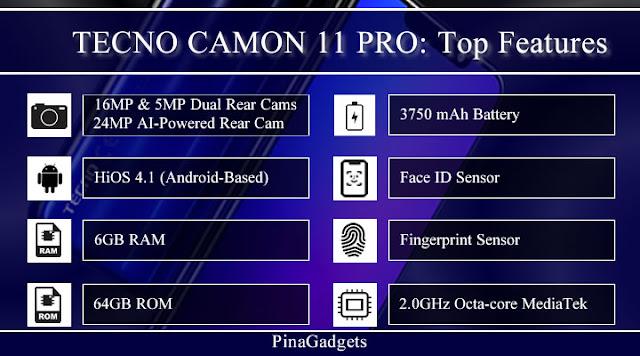 Tecno Camon 11 Pro Top Specs
