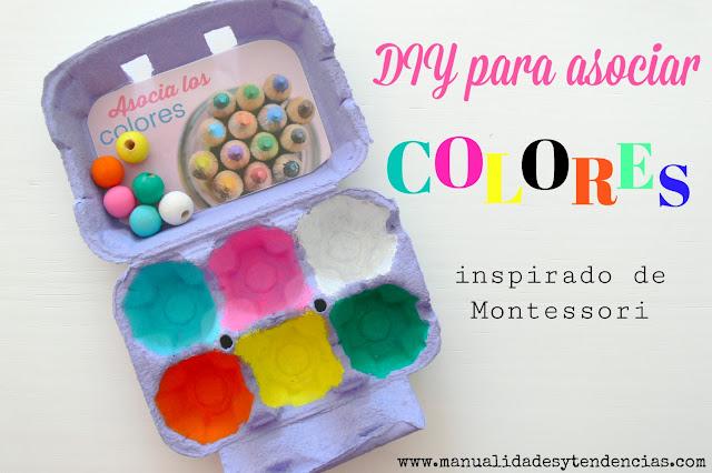 Cajar asociar colores Montessori en casa