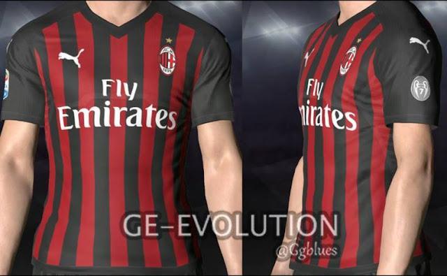 Puma AC Milan Home Kit PES 2017
