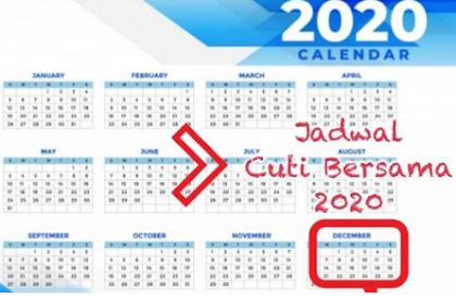 INILAH Jadwal Lengkap Cuti Bersama 2020, Tanggal Libur Sejak 24 Desember 2020 Hingga 11 Hari ke Depan, Simak Selengkapnya