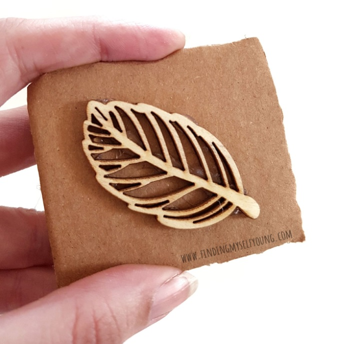 diy playdoh leaf stamp