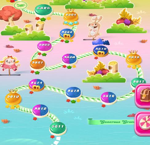 Candy Crush Saga level 5811-5825