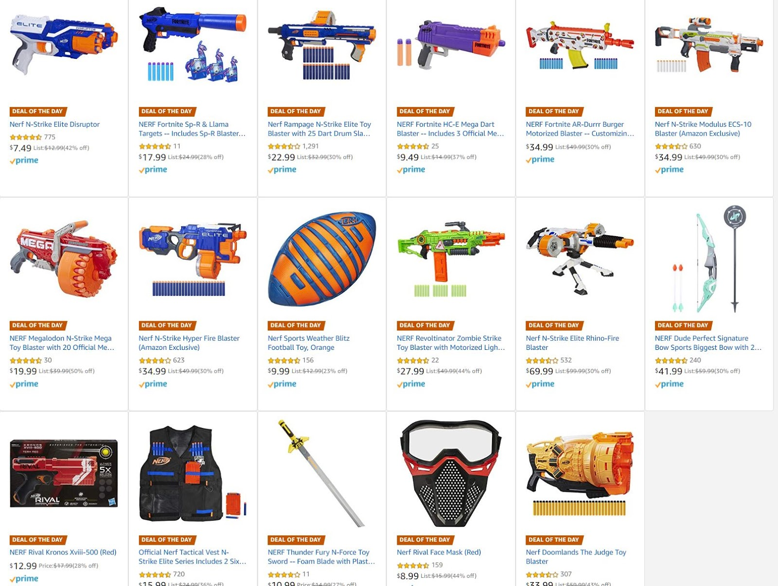 Nerf Blasters And Toys On Sale Today On Amazon N Strike Blaster