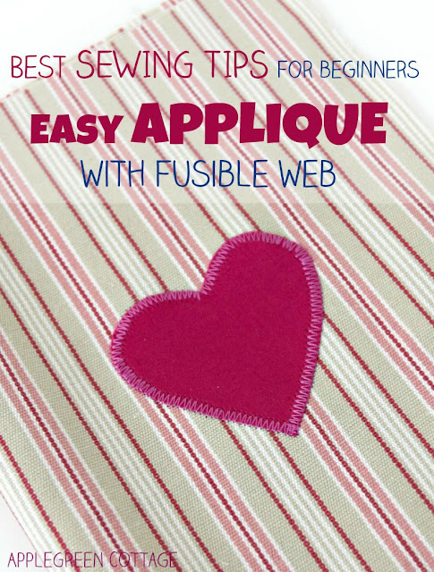 Learn how to applique with fusible web. It's an easy beginner sewing project, and it will enable you to embellish and personalize just anything you sew. See how to make your own appliques, how to apply fusible web to fabric, and how to sew them using a regular sewing machine. Too easy to not try it out!