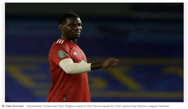 Pogba returns to France for National League matches