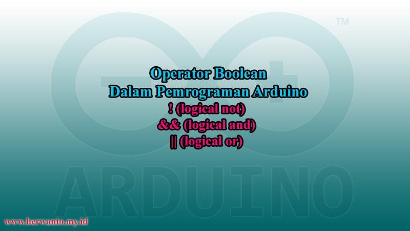 Operator boolean dalam pemrograman arduino
