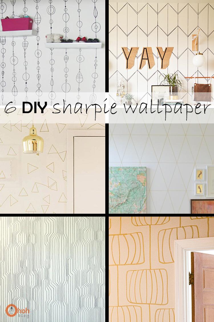 DIY Monday # Sharpie Wallpaper