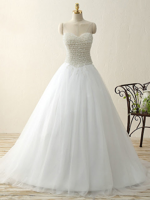 http://www.dressesofgirl.com/trendy-princess-sweetheart-tulle-sweep-train-pearl-detailing-white-prom-dresses-dgd020103240-6272.html?Utm_source = minipost & utm_medium = DG1037 & utm_campaign = blog