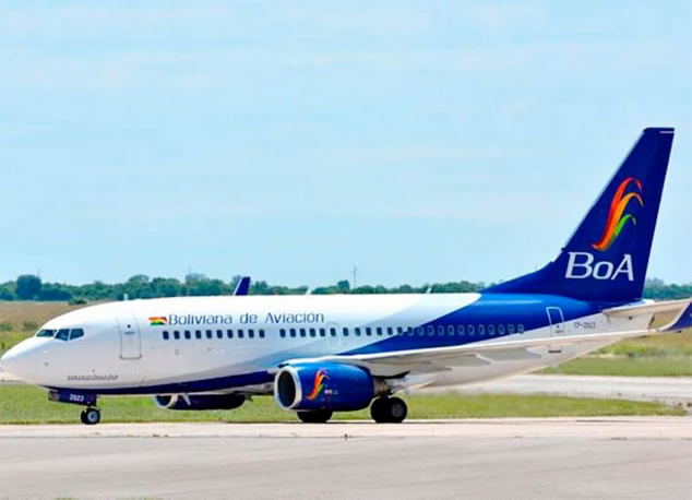 BoA aclara que vuelos para evacuar a estadounidenses no trasportarán a ningún boliviano