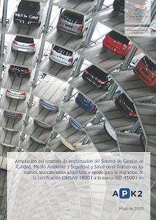 contrato firmado entre Cuevas y Montoto Consultores y APK2 Gestión de Aparcamientos