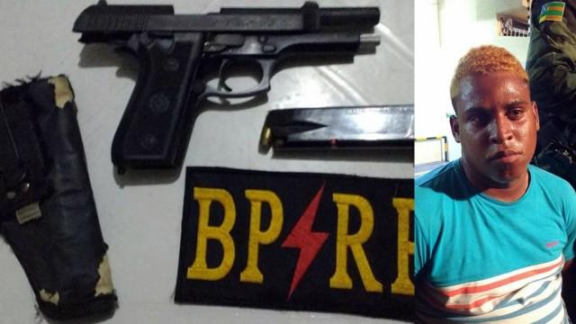 Homem é preso portando pistola no bloco Rasgadinho