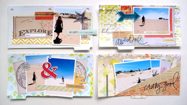 Epic Adventure Resist Vacation Mini Album Pages by Dana Tatar for Faber-Castell