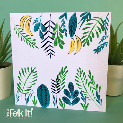 Card designed by Carol Sykes for the #funwithfolkit tropical theme this July