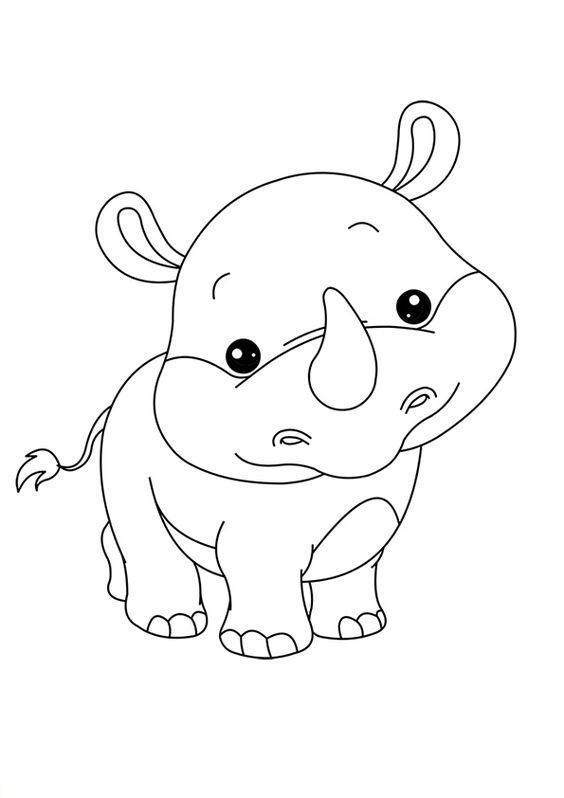 Tập tô màu con tê giác