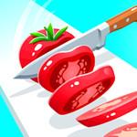 لعبة تقطيع الطماطم