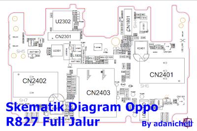 Skematik Diagram Oppo R827 Full Jalur