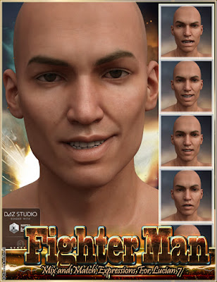 http://www.daz3d.com/fighter-man-mix-and-match-expressions-for-lucian-7-and-genesis-3-male-s