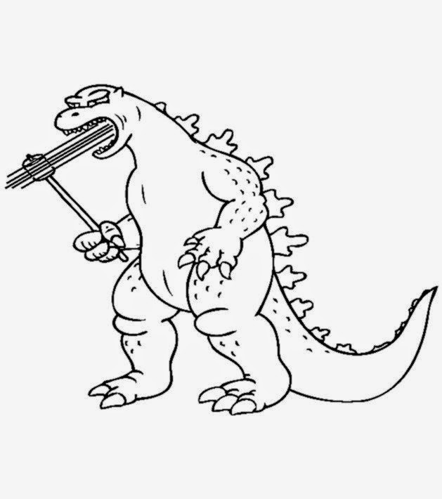 Godzilla Coloring Pictures Free Coloring Pictures