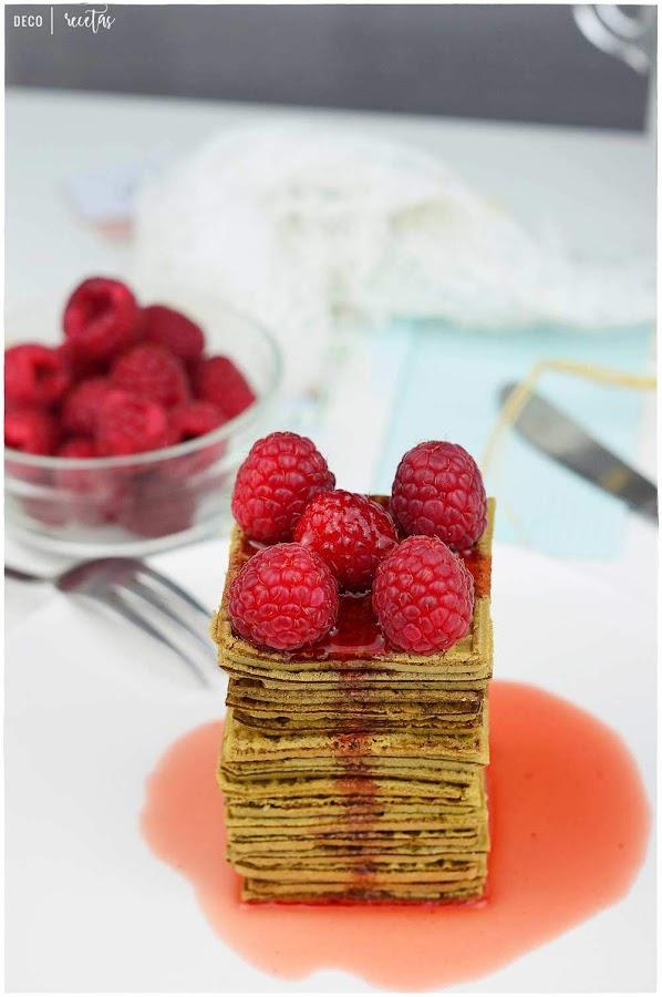 receta de tortitas de Té matcha