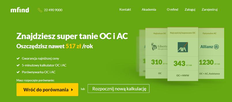 Zadbaj o swoje finanse - znajdź OC dla swojego pojazdu z mfind.pl