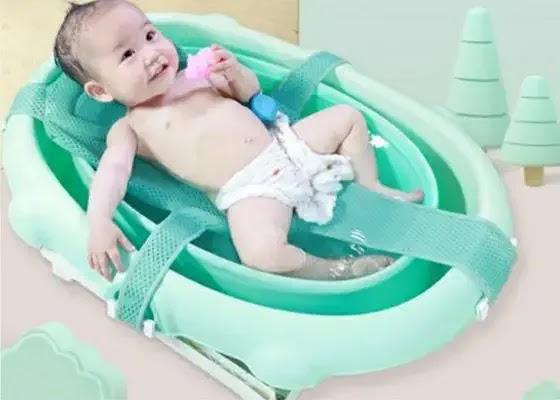 jaring mandi bayi agar bayi tidak bergeser saat dibersihkan