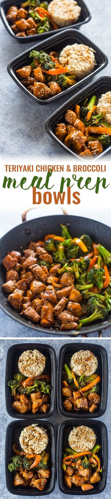 Quick teriyaki chicken and broccoli meal prep bowls make a tasty healthy lunch for the entire work week in under 20 minutes.This meal-prep version of teriyaki chicken is perfect for lunch time. It…