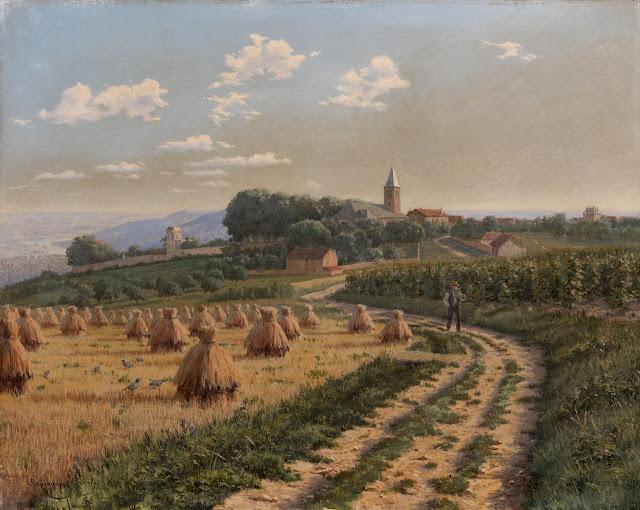 Boris Bessonov - Landscape with Haystacks