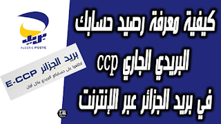 How to know the balance of your current account in Algeria Post via the Internet ccp