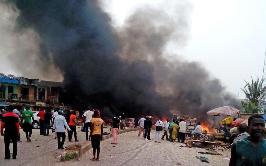 Fire destroys Benue biggest market 1