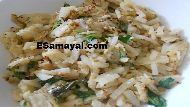 முள்ளங்கி பொரியல் செய்வது | Radish fries Recipe !