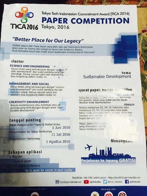 Kesempatan ke Negeri Sakura: Ikuti Paper Competition Tokyo Tech Indonesian Commitment Award 2016