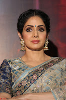 Sri Devi in designer saree stunning beauty at the launch of MOM movie Trailer~  Exclusive 044.JPG