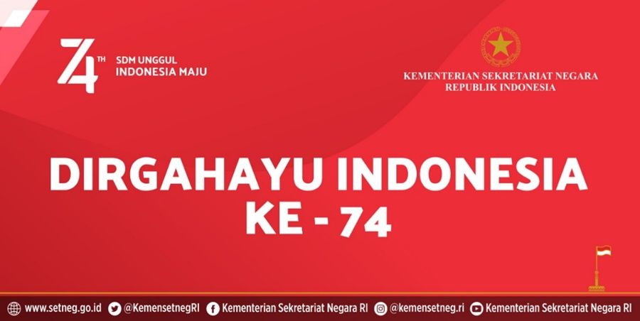 Gambar Logo HUT RI Ke-74 - setneg.go.id