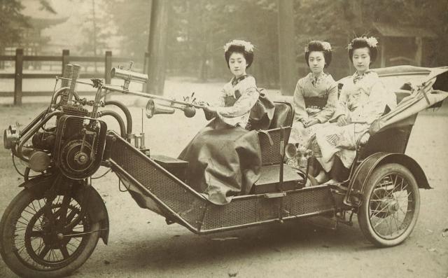Mujeres japonesas en Kimono