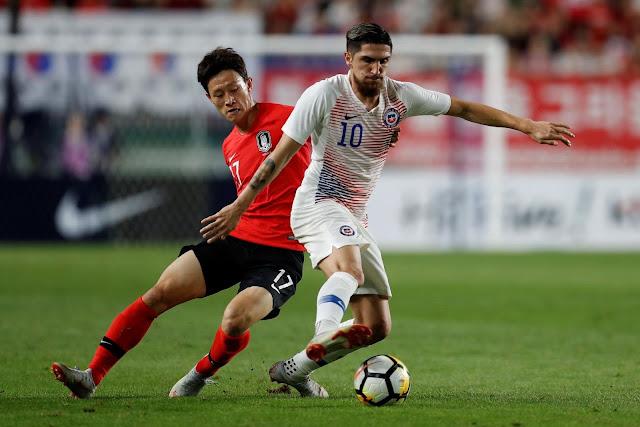 Corea del Sur y Chile en partido amistoso, 11 de septiembre de 2018