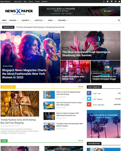 Newspaper X Blogger Template Download