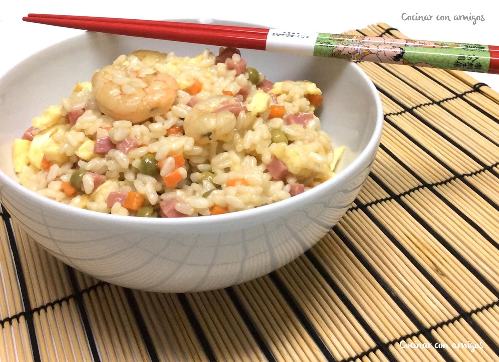 arroz tres delicias cocinar con amigos