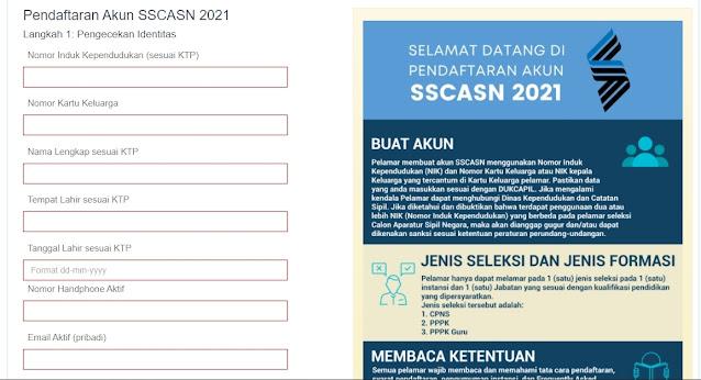 Sudah Dibuka Pendaftaran CPNS dan PPPK 2021, Berikut Cara Pendaftaran di sscasn.bkn.go.id